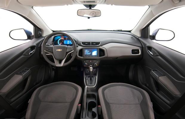 Interior do Chevrolet Prisma 2015 (Foto: Divulgação)