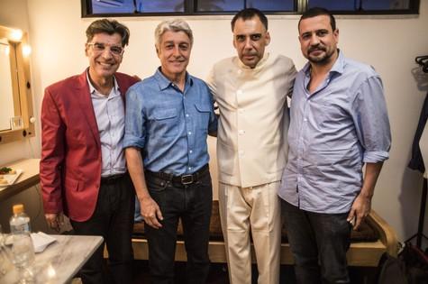 Paulo Betti, Caco Barcellos, Arnaldo Antunes e Marcus Faustini  (Foto: Aline Massuca)