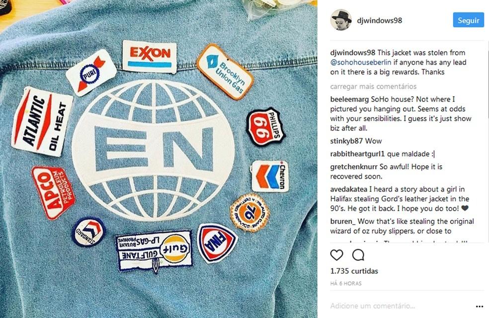 Win Butler, do Arcade Fire, pede ajuda para encontrar jaqueta (Foto: Reprodução / Instagram)