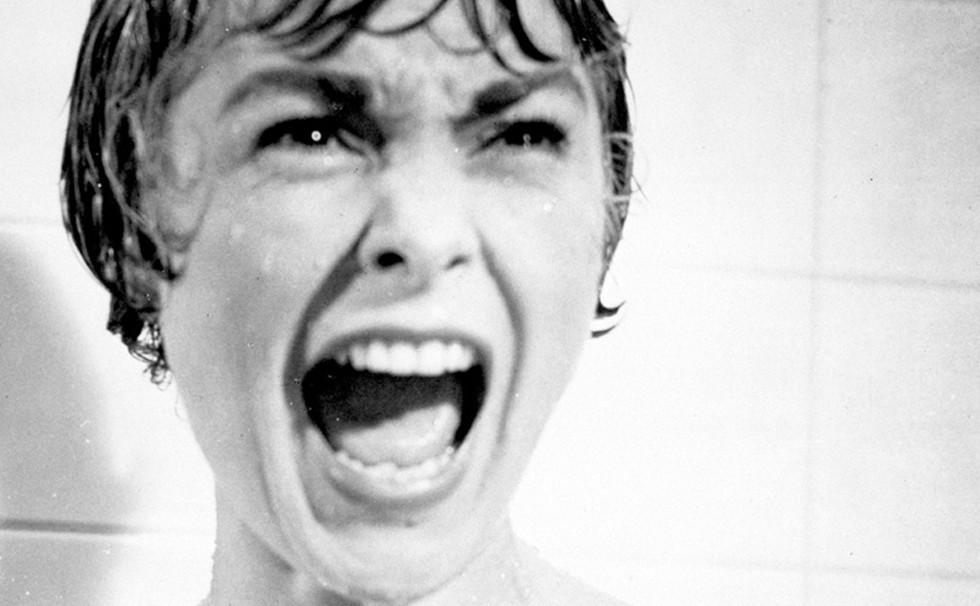 Cena de 'Psicose' com talvez o grito mais famoso do cinema (Foto: Reprodução/YouTube)