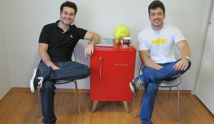 Israel Salmen e Ofli Guimarães, fundadores do Méliuz, startup que dá reembolsos aos consumidores por produtos comprados.