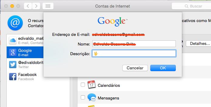Colocando emoji no nome de uma conta de e-mail (Foto: Reprodução/Edivaldo Brito)