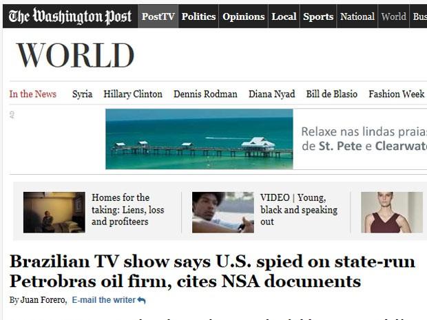 Reportagem do 'Washington Post' questiona o fato de que o governo americano afirma que a espionagem tem foco na luta antiterrorismo. (Foto: Reprodução)