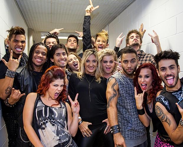 Bailarinos do The Voice Brasil (Foto: Fabiano Battaglin/TV Globo)