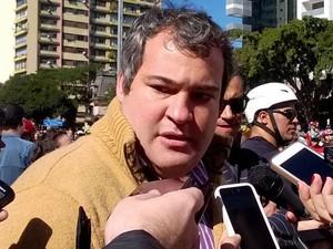 Henrique Sousa participou de protesto na Avenida Paulista (Foto: Vivian Reis/G1)