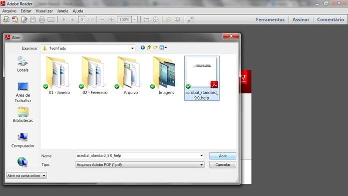 Escolha um arquivo no formato PDF que esteja gravado em seu PC  (Foto: Reprodução/Daniel Ribeiro)
