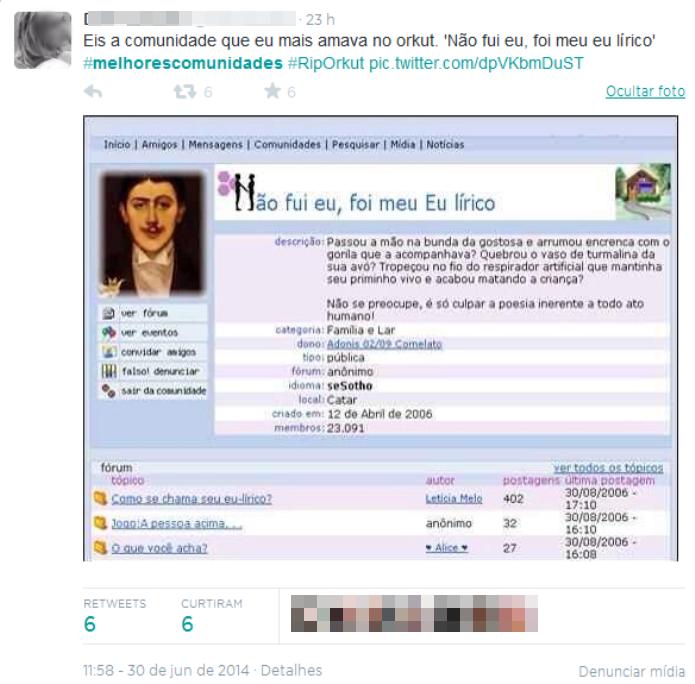 Os títulos das comunidades eram engraçados e ganhavam a simpatia dos usuários (Foto: Reprodução/Twitter)
