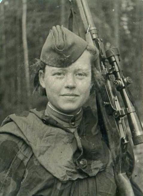 Foto original da sniper soviética (Foto: Olga Shirnina)