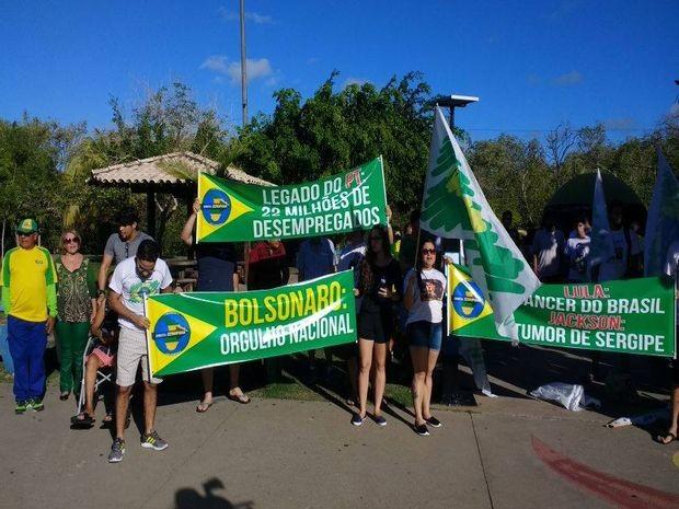 Protesto em Aracaju tem 10 reinvidicações  (Foto: Danilo Mecenas/TV Sergipe)