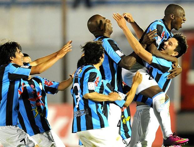 Real Garcilaso comemoração Nacional Libertadores (Foto: AFP)