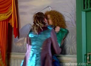 O beijo que o Nando deu na Gina foi o esciolhido dos internautas (Foto: Meu Pedacinho de Chão/TV Globo)