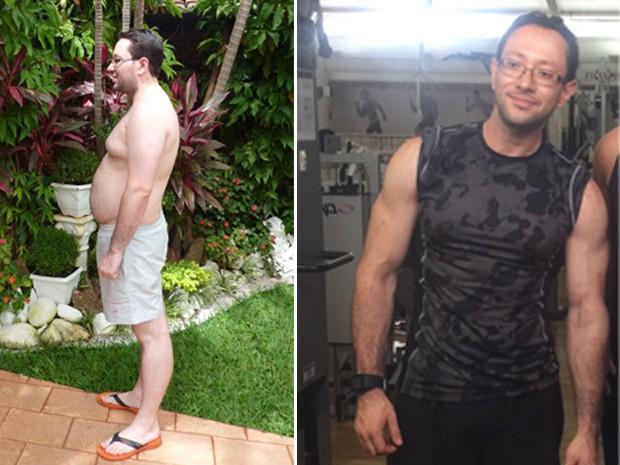 Helio conseguiu pensar em uma dieta sem a ajuda de um nutricionista (Foto: Arquivo Pessoal)