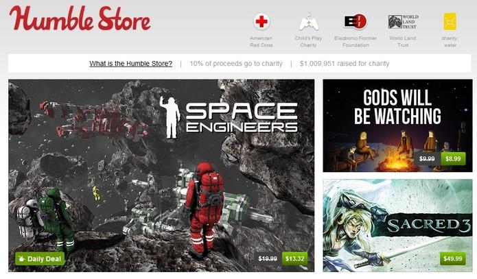 Humble Bundle oferece diversas promoções para os gamers (Foto: Reprodução/ HumbleBundle)