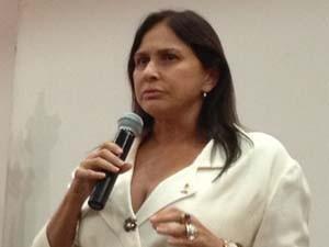 Cantora Fafá de Belém nas atividades do Dia Nacional de Combate ao Abuso e à Exploração Sexual de Crianças e Adolescentes (Foto: Mariana Zoccoli/G1)
