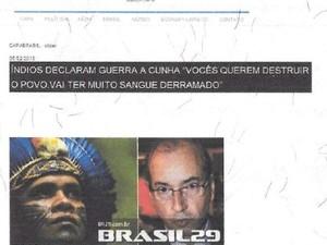 Documento com 'foto' do site foi registrado em cartório (Foto: Reprodução / Ata Notarial)