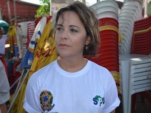 Superintendente do Patrimônio da União na Paraíba, Daniella Bandeira (Foto: Walter Paparazzo/G1)