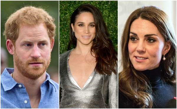 Príncipe Harry, Meghan Markle e Kate Middtleton (Foto: Getty Images)