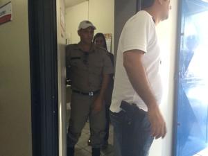 Militar foi preso por agredir filho de policial (Foto: Paula Nunes/G1)
