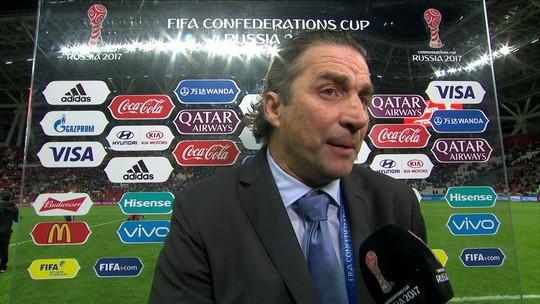 """Pizzi elogia o primeiro tempo de chilenos e alemães: """"Nível muito alto"""""""