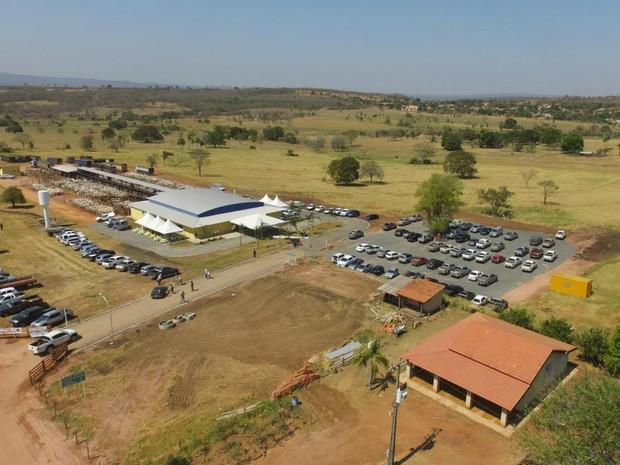Recinto de Leilões onde será promovida a primeira edição da Expo Rural Rio Negro (Foto: Divulgação/Sindicato Rural de Rio Negro)