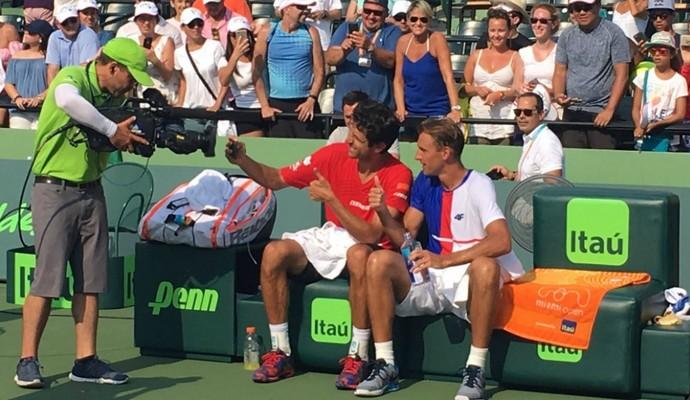 Marcelo Melo e Kubot campeões em Miami (Foto: Reprodução/Twitter)