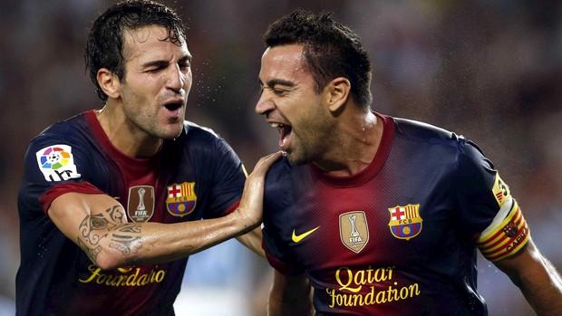 xavi fabregas barcelona gol granada (Foto: Agência EFE)