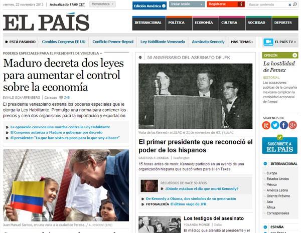 'El País' terá versão brasileira a partir de terça-feira (26). (Foto: Reprodução)