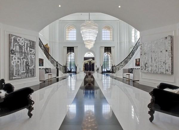 O interior da nova mansão de David Beckham e Victoria Beckham (Foto: Divulgação)