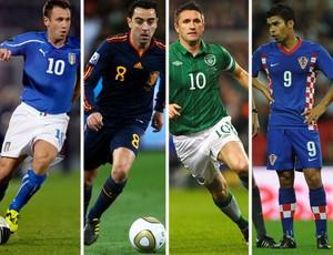 12ff6ffaf0 EUROCOPA Grupo C - Itália  Cassano   Espanha  Xavi   Irlanda  Robbie Keane