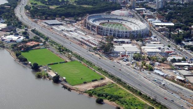Estádio terá nova cobertura e outras reformas para receber jogos da Copa (Foto: Divulgação/AG)