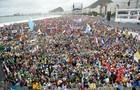 Jornada é aberta e reúne 400 mil peregrinos (Tasso Marcelo/AFP)