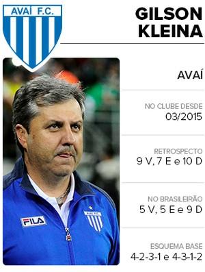 INFO cards técnicos brasileiros gilson Kleina Avaí (Foto: Editoria de Arte)