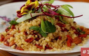 Receita do Dia 14: Arroz integral com amêndoas e arroz vermelho com lentilha