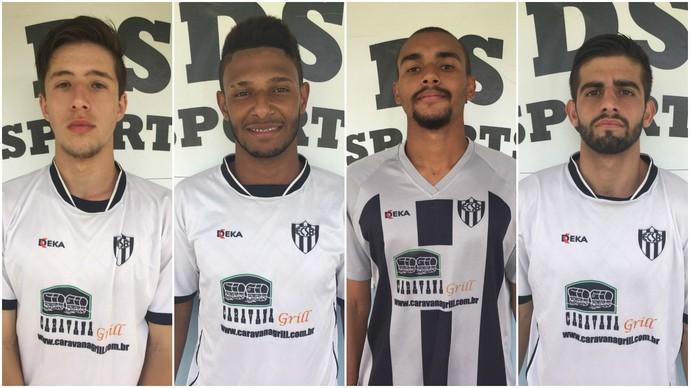 Fábio, Emerson Morcego, Dida e Felipe (Foto: Divulgação/EC São Bernardo)