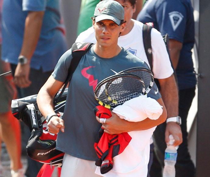 Rafael Nadal camisa Flamengo (Foto: Alexandre Cassiano / Agência O Globo)