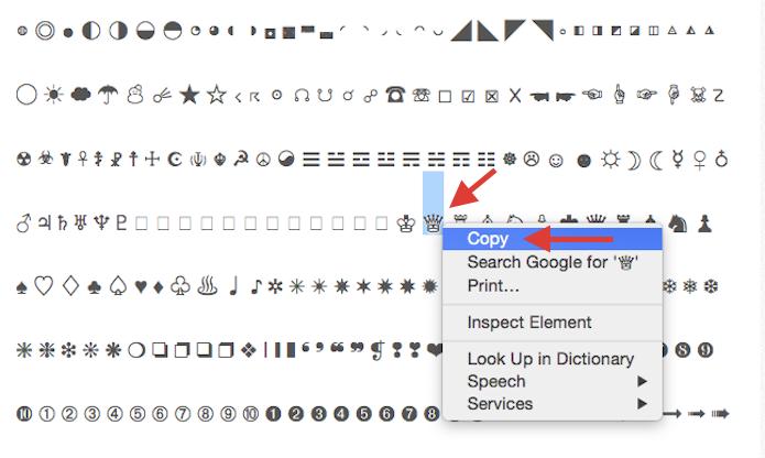 Copiando um caractere especial que será enviado por e-mail e inserido como atalho no iOS (Foto: Reprodução/Marvin Costa)
