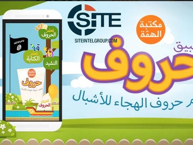 Estado Islâmico lança aplicativo para ensinar árabe a crianças (Foto: Reprodução/ Twitter/ Rita Katz)