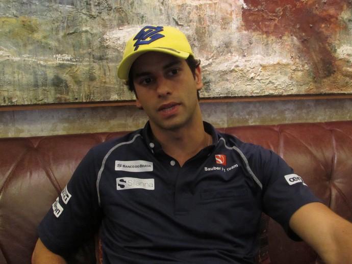 Felipe Nasr durante entrevista em hotel em São Paulo (Foto: Divulgação)