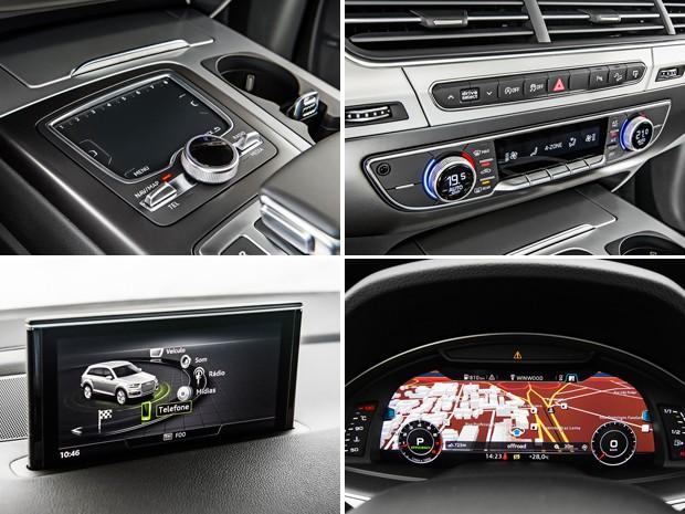 Detalhes do interior do Audi Q7 (Foto: Divulgação)