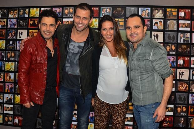 Zezé Di Camargo, Henri Castelli, Juliana Despirito e Luciano (Foto: Caio Duran/Agnews)