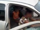 PRF apreende carro com 60 multas e 3 crianças sem cadeirinhas na BR-060