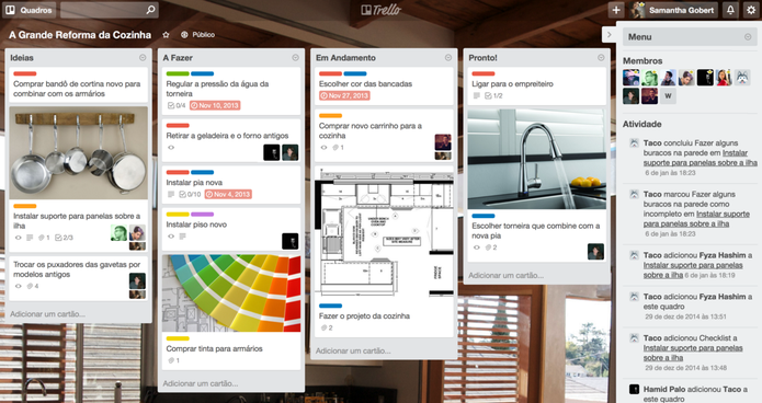 Trello é um serviço criado para organizar desde tarefas simples (Foto: Reprodução/Trello)