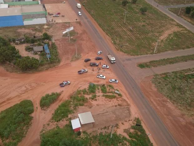 Carro foi furtado em Gurupi (Foto: CIOPAer/Divulgação)