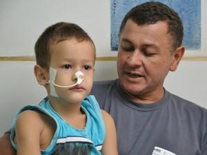 Menino que engoliu pilha em MS poderá ter sequelas, diz médico (Foto: Gabriela Pavão/ G1 MS)