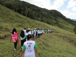 Caminhada ecológica Muriaé (Foto: Assessoria/Divulgação)