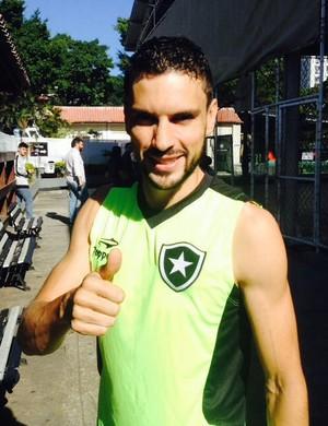 Rodrigo Pimpão, treino Botafogo (Foto: Marcelo Baltar)