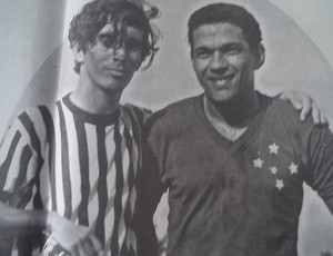 Luizinho, capitão democratense e Garrincha com a camisa do Cruzeiro (Foto: Arquivo Pessoal/Luizinho Alves)