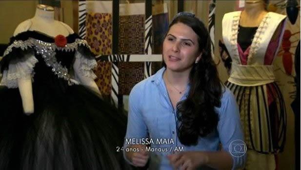 Melissa Maia é uma das concorrentes do novo quadro do Fantástico (Foto: Reprodução/ Fantástico)
