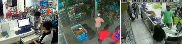 Em dois meses, 95 assaltos foram registrados em farmácias de Natal. Imagens cedidas revelam a audácia dos criminosos (Foto: Reprodução/Inter TV Cabugi)