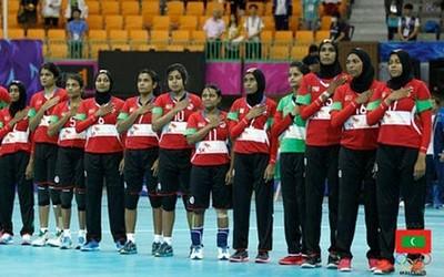 Seleção da Maldivas não suportou as japonesas (Foto: Divulgação/Maldivas Handball)